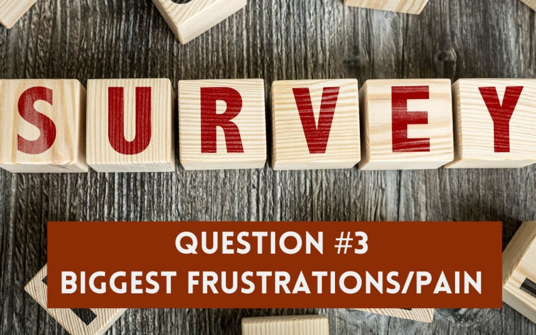 Survey Question 3: Biggest Frustrations